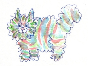 Terrible Cat Drawing