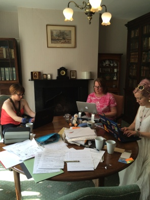 Spot Teri terry hard at work on her new book!